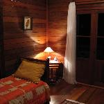 My Cabin: Sitting Room with Extra Bed & Door to View Balcony