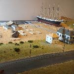 A diorama of the old shipyard that once occupied the gounds of MMM.