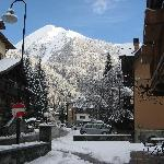 View from front door towards Champoluc village centre