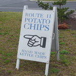 Sign to Route 11 Potato Chip Factory