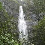 Hanakapi'ai Valley waterfall off Kalalau trail - an amazing north shore hike!