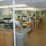 Very clean kitchen facilities that you share with other guests