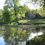 View of house from across pond