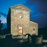 Commenda church by night
