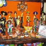  souvenir shopping at a handicraft store down the street