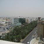 The view of Al Muteena St from the roof
