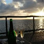 Complimentary champagne for honeymooners