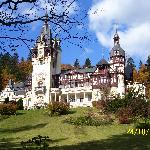 Peles Castle, just a few minutes walk from the Vila Camelia.