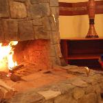  the fireplace in our room