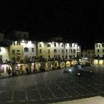  The main square a t night from our window