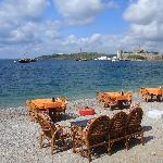 Bodrum Castle and beach area