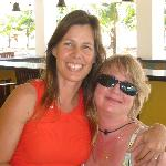 My wife with resort manager Lisa