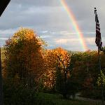 Rainbow from the side porch of Woodchuck Hill Farm