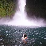 A morning swim at La Fortuna Waterfall