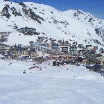 "La Mongie ski station from ""Pain de Sucre"" run"