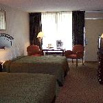  Beds &amp; pillows clean &amp; very comfortable, table &amp; chairs