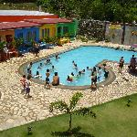 solar heated pool for kids and adults