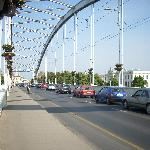 the bridge to the center of Szeged