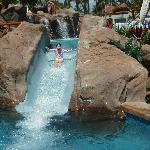 One of the water slides at grand Wailea resort