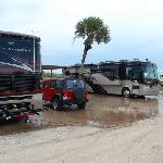 Oceanfront sites flood during rain...