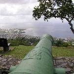  King George III&#39;s cannons still point to sea at Fort George, Trinidad
