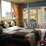 Room with a great balcony for relaxing and viewing sightseeings