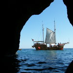 Our ship from the caves