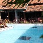 swimming pool right in front of our room