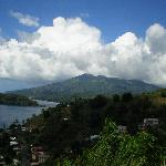  a view of the volcano from the leeward side of the island