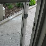 door to outside (near my room) broke