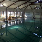 The indoor hot water swimming pool