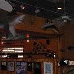"Shark & ""Cow""fish inside the BIG FISH Grill"