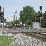 One of Fostoria's several diamonds, where CSX and NS intersect