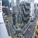 Junction of Lambton Quay/Featherston St, taken from the apartment