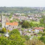 A view of the picturesque town of Newport from historic Carisbrooke Castle.