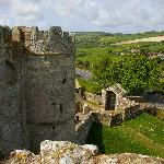 Breathtaking views of the English countryside from Carisbrooke Castle, Newport, Isle of Wight.