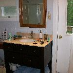 Granite countertops in the bathroom