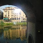 View of River Arno from hotel windows