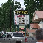 Wagons West Sign on 93 North