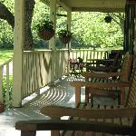 The beautiful, welcoming porch