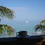 Morning coffee in paradise