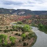 Chama River near Ghost Ranch, also featured in some O'Keefe paintings
