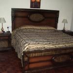 This was our large carved bed