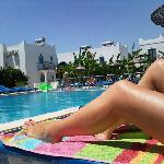 by the pool at the Dilek