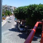 view from the Tempo - the Dilek is up this road on the left