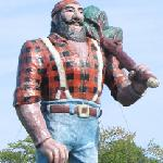Oscoda fancies itself the home of Paul Bunyan. A Lumberman's Monument can be seen along the rive