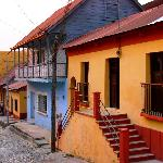 Brightly painted houses of Flores