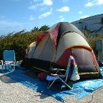 Tent at curry hammock state park