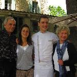 Tom, Annie, the chef and his wife