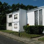 A bauhaus house in a bauhaus neighborhood